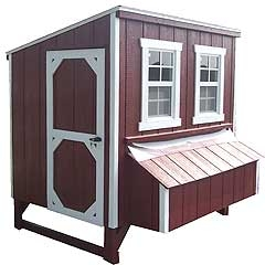 Lancaster Chicken Coop With Nesting Boxes Red