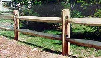 Split Rail Fence Rail 11ft