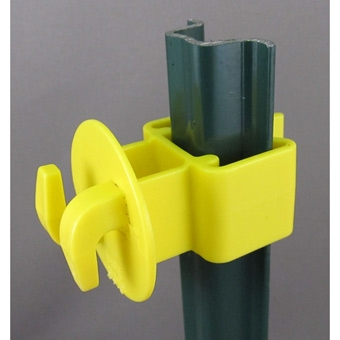 Dare Garden U-post Insulator Yellow 25/pk
