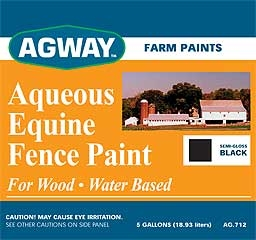 Agway Aqueous Emulsion Equine Fence Paint 5gl