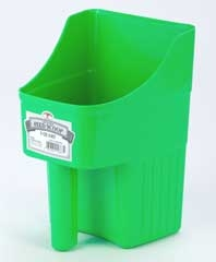 Enclosed Feed Scoop Lime Green 3qt