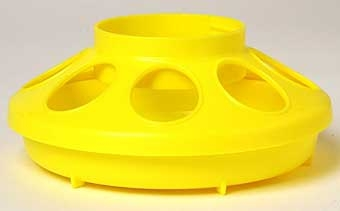 Yellow Plastic Feeder Base 1qt