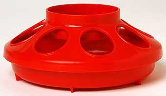 Red Plastic Feeder Base 1qt