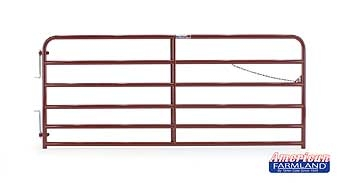 6 Bar Extra Heavy Duty Bull Gate Red 10ft