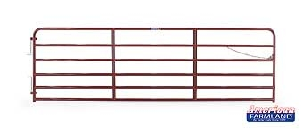 6 Bar Extra Heavy Duty Bull Gate Red 14ft