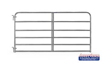 6 Bar Economy Galvanized Tube Gate 8ft