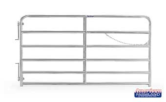 6 Bar Heavy Duty Galvanized Tube Gate 8ft