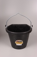 Flat Back Bucket Black 20 Qt