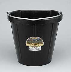 Flat Back Bucket Black 18 Qt