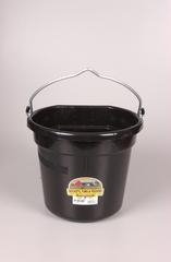 Duraflex Flat Back Bucket Black 20 Qt