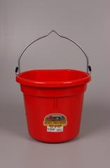 Duraflex Flat Back Bucket Red 20 Qt