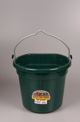Duraflex Flat Back Bucket Green 20 Qt