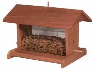 Classic Design Redwood Bird Feeder