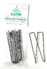 Metal Ground Staples 6in
