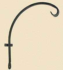 Curved Wrought Iron Hanger Downturn Hook 16in