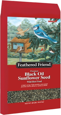 Feathered Friend Black Oil Sunflower Bird Seed 40lb