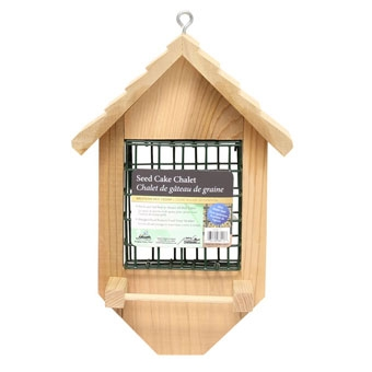 Heath Seed & Suet Cake Chalet Feeder