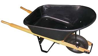 Poly Wheelbarrow With Wood Handles 6cuft
