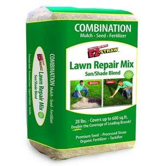 Rhino® EZ Straw® Sun & Shade Lawn Repair Mix Bale (28#)