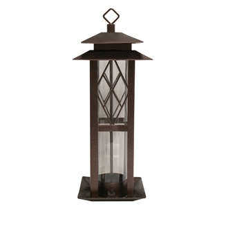 Heath Hammered Copper Mixed Seed Tower Bird Feeder