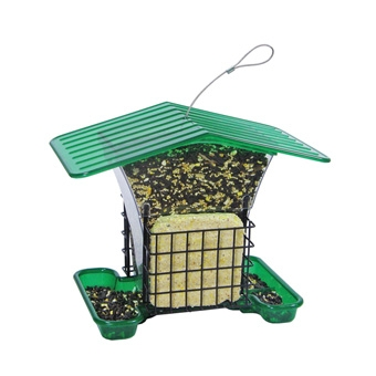 Belle Fleur Hopper Bird Feeder With Suet Holders