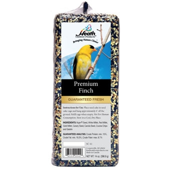 Heath Premium Finch Bar Seed Cake 14 Oz
