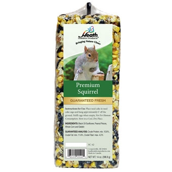 Heath Premium Squirrel Bar Seed Cake 14 Oz