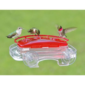 Aspects Jewel Box Window Mounted Hummingbird Feeder