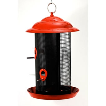Feathered Friend Metal Mesh Combo Screen Bird Feeder Brick Red Large