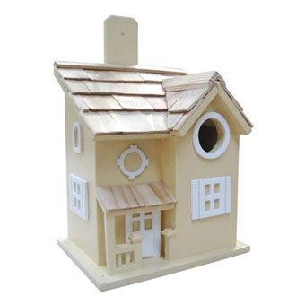 Home Bazaar Nestling Cottage Birdhouse Yellow