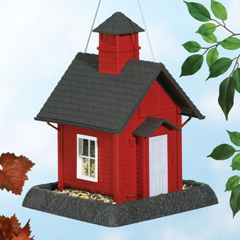 North States School House Birdfeeder Red