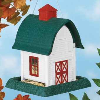 North States Barn Birdfeeder White