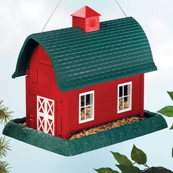 North States Barn Birdfeeder Red Large
