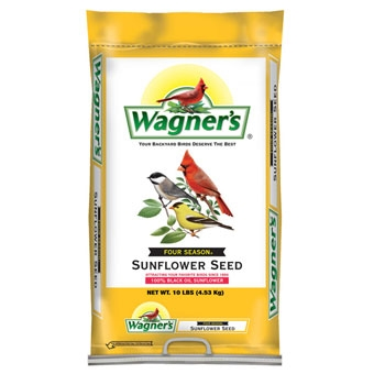 Wagner's Four Season 100% Black Oil Sunflower Seed 10 Lb
