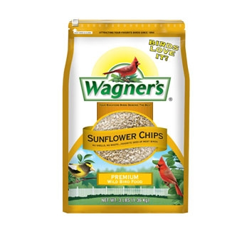 Wagner's Sunflower Chips Premium Wild Bird Food 3 Lb