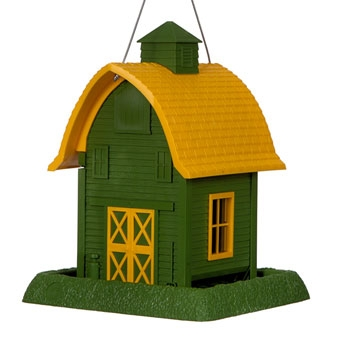 North States Barn Birdfeeder Green