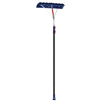 "Ames Telescoping Roof Rake 24"" Blade 17' Extended"