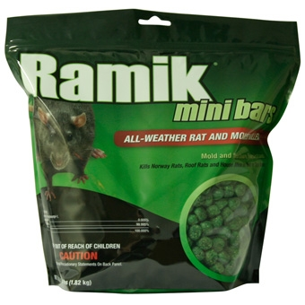 Ramik Mini Bars All-weather Rat And Mouse Killer 4 Lb