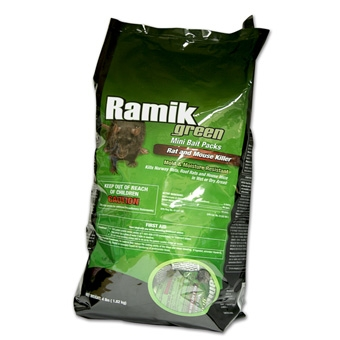 Ramik Green Mini Bait Packs Rat And Mice Killer 4 Lb