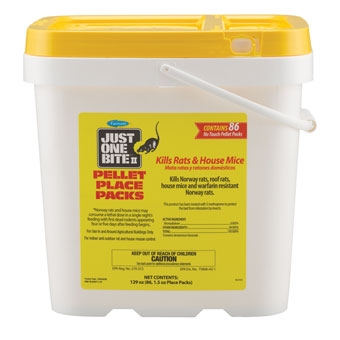 Just One Bite Ii Pellet Place Packs Rat & Mouse Killer 8 Lb