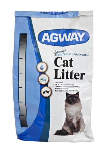 Agway Traditional Unscented Cat Litter 40 Lb