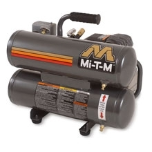Mi-T-M Corp 1 1/2 HP 110V Twin Stack Compressor, 4.1 CFM @ 100 PSI