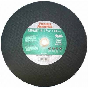 Virgina Abrasives Blades 14 x 5/32 x 1 Abrasive Cut Off Wheels - Asphalt