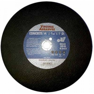 Virgina Abrasives Blades 14 x 1/4 x 1-D Abrasive Cut Off Wheels-Concrete
