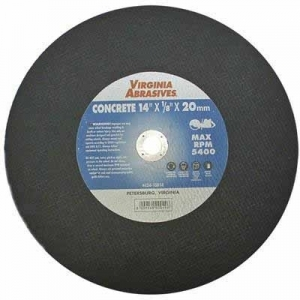 Cut Off Saw Abrasive Blades, Hand Held, 14 x 1/8 x 1 Concrete