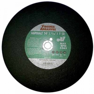 Virgina Abrasives Blades 14 x 3/16 x 1D Abrasive Cut Off Wheels-Green Concrete/Asphalt