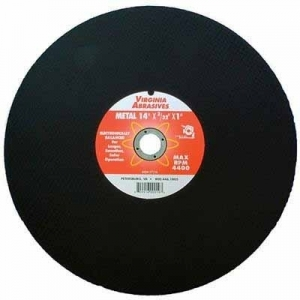 Virgina Abrasives Blades 14 x 3/32 x 1 Abrasive Chop Saw Wheels-Metal