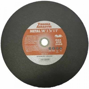 Virgina Abrasives Blades 14 x 1/8 x 1 Abrasive Cut Off Wheels-Metal
