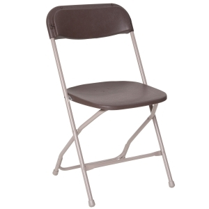 PRE Brown Plastic Folding Chair