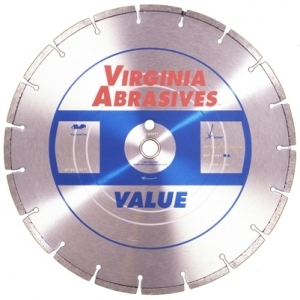 Virgina Abrasives Diamond 14x.125x1-20mm Value High Speed Wet/Dry General Purpose Concrete